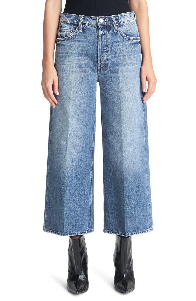 MOTHER The Tomcat Roller High Waist Crop Wide Leg Jeans, Main, color, TAKE ME HIGHER