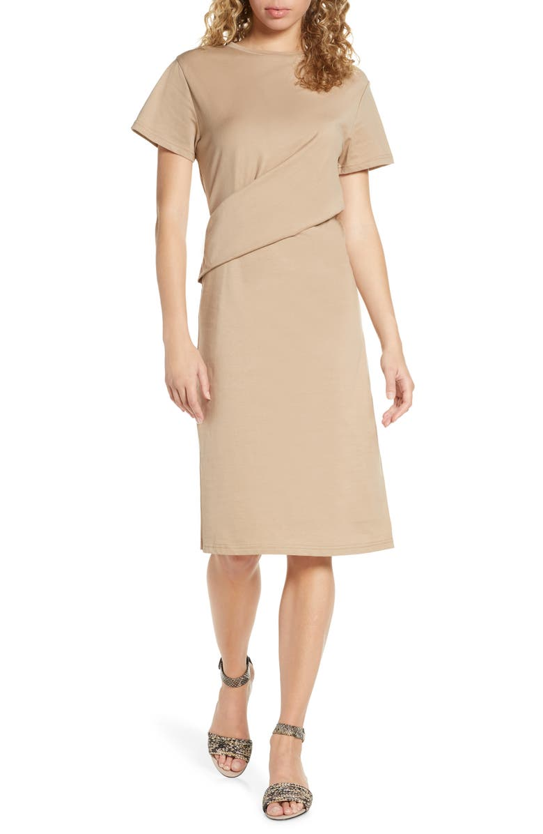 CAARA Poella Waist Detail Cotton T-Shirt Dress, Main, color, 200