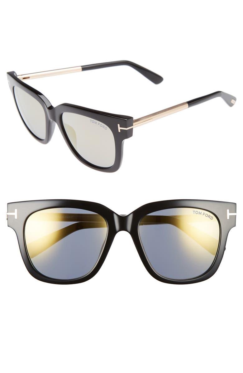TOM FORD Tracy 53mm Retro Sunglasses, Main, color, 001