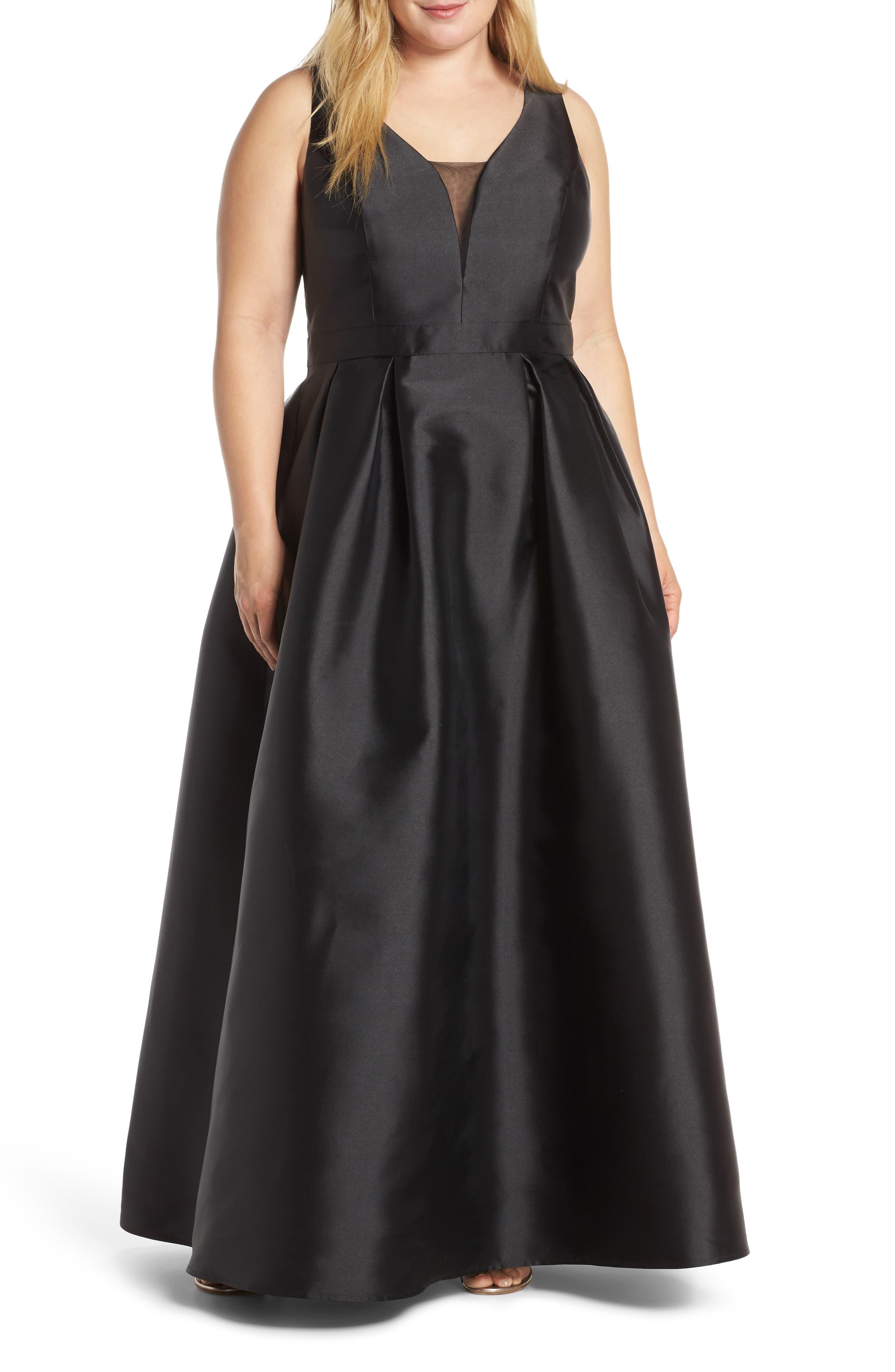 Plus Size Chi Chi London Rae Back Cutout Evening Dress, Black