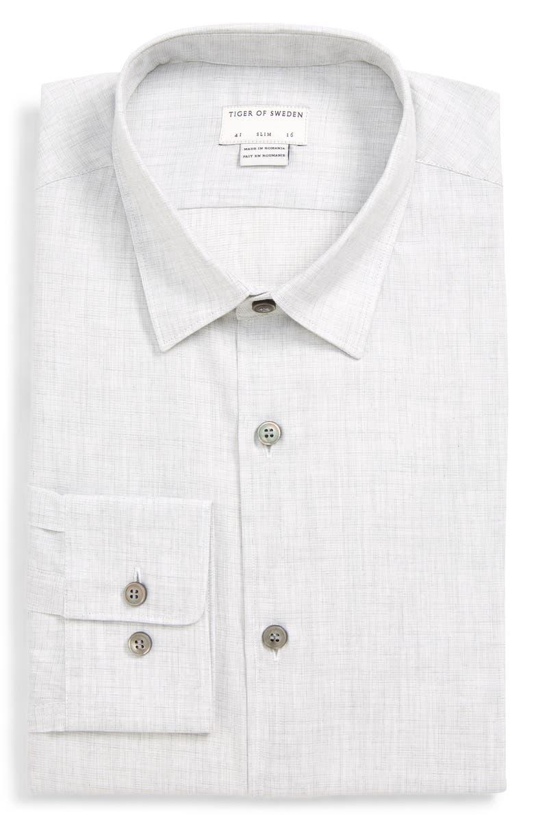 TIGER OF SWEDEN Farrell Slim Fit Solid Dress Shirt, Main, color, 030