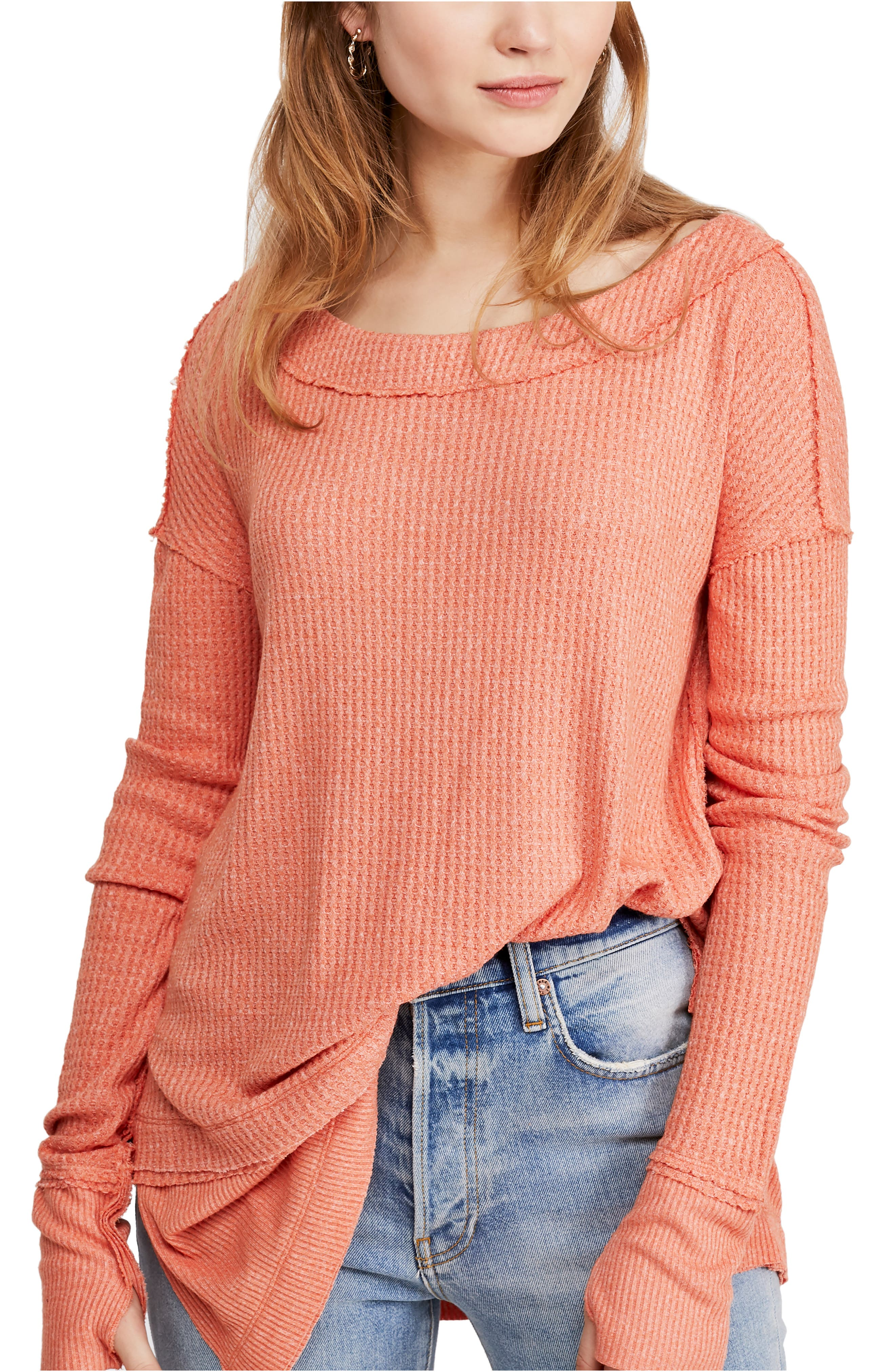 Image of Free People North Shore Thermal Knit Tunic Top