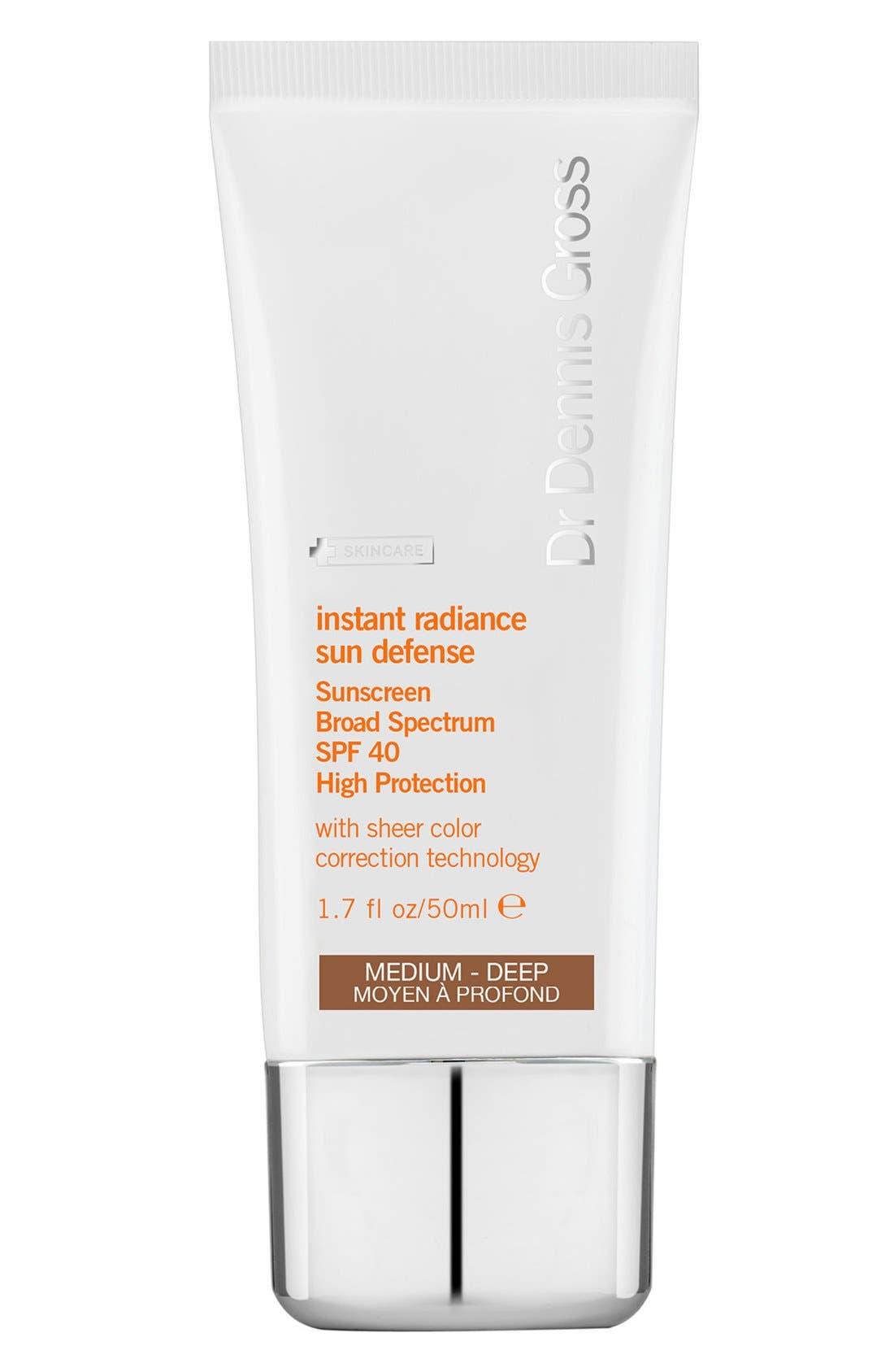 Instant Radiance Sun Defense Sunscreen Broad Spectrum Spf 40