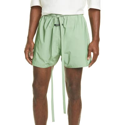 Fear Of God Military Physical Training Nylon Shorts, Green