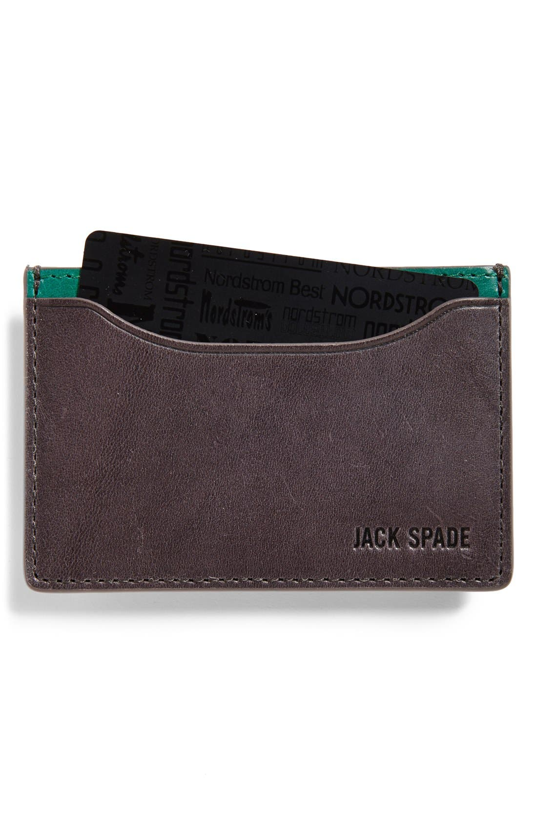 ,                             'Mitchell' Leather Card Holder,                             Main thumbnail 3, color,                             068