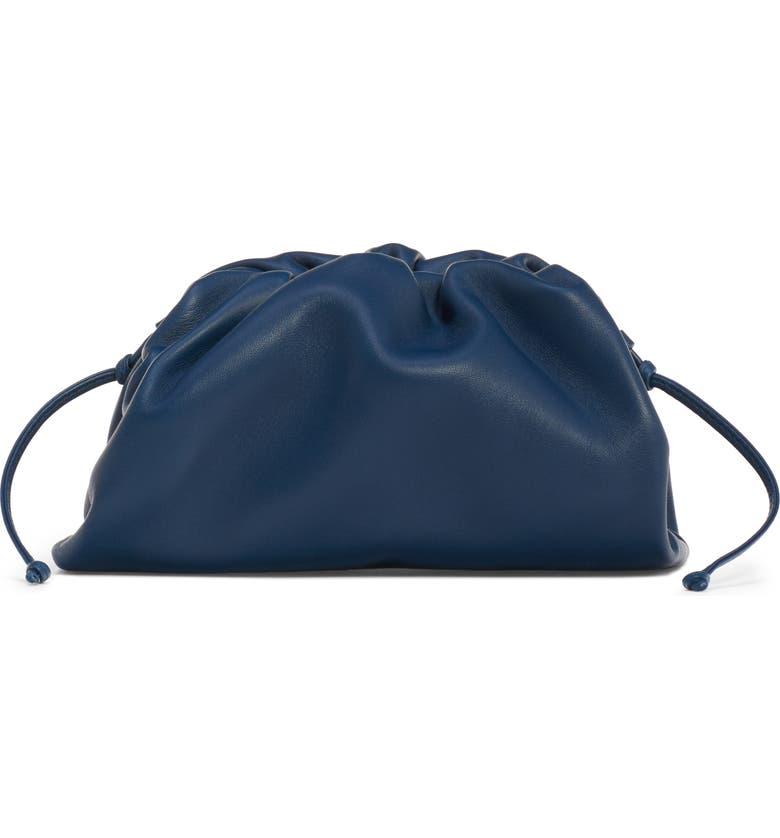 BOTTEGA VENETA The Mini Pouch Calfskin Leather Clutch, Main, color, 416