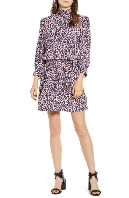 Image of Zadig & Voltaire Rivali Leopard Print Mock Neck Dress