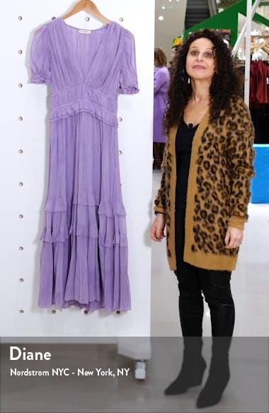 Elodie Pleated Silk Midi Dress, sales video thumbnail