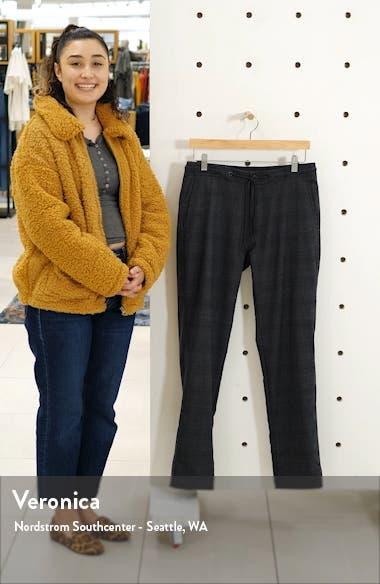 Warren Drawstring Plaid Wool Blend Trousers, sales video thumbnail