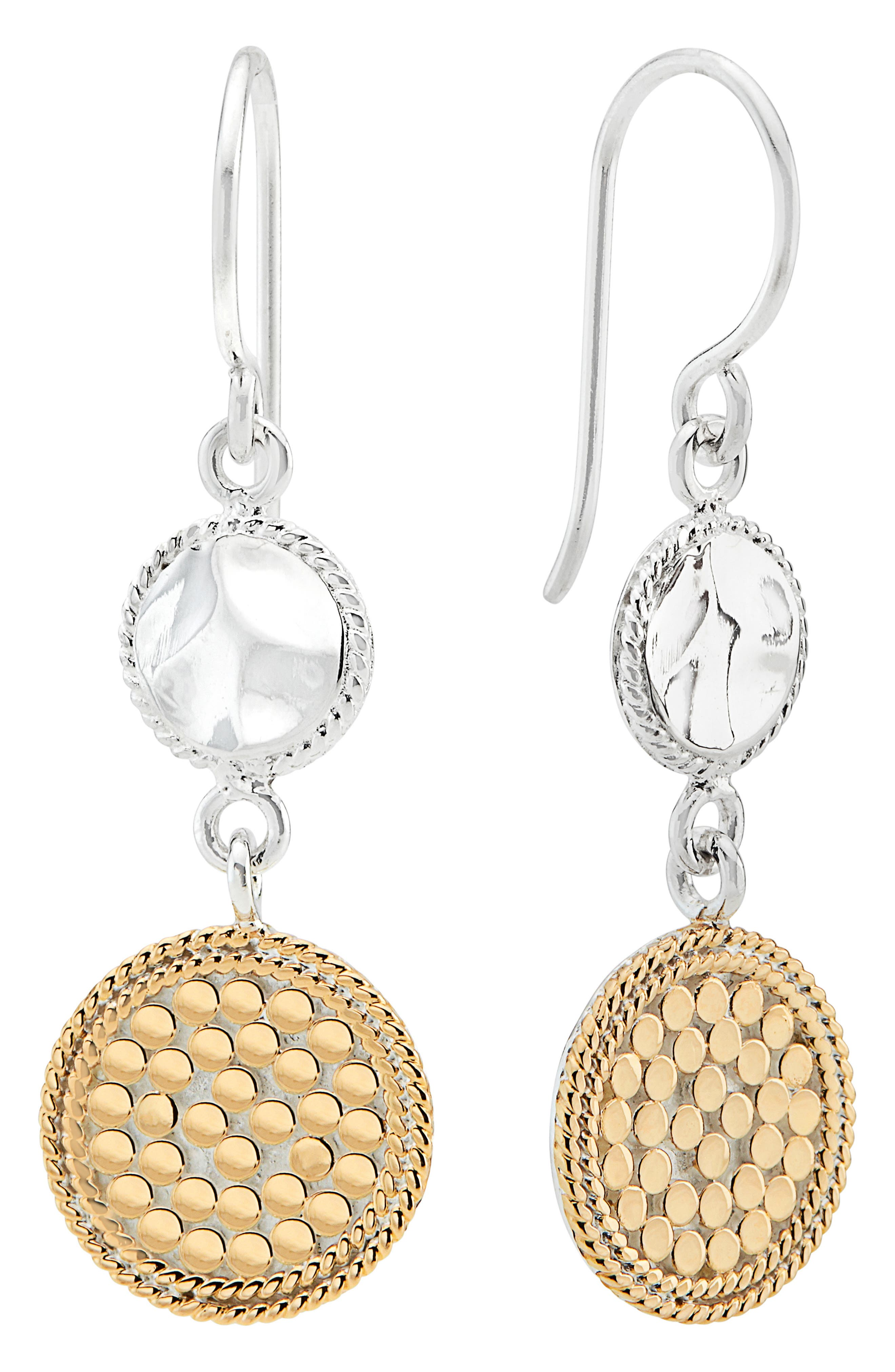 Hammered Double Drop Earrings