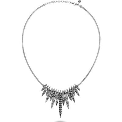 John Hardy Classic Chain Hammered Two-Tone Spear Bib Necklace