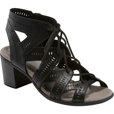 Earth Mali Lace-Up Sandal, Black