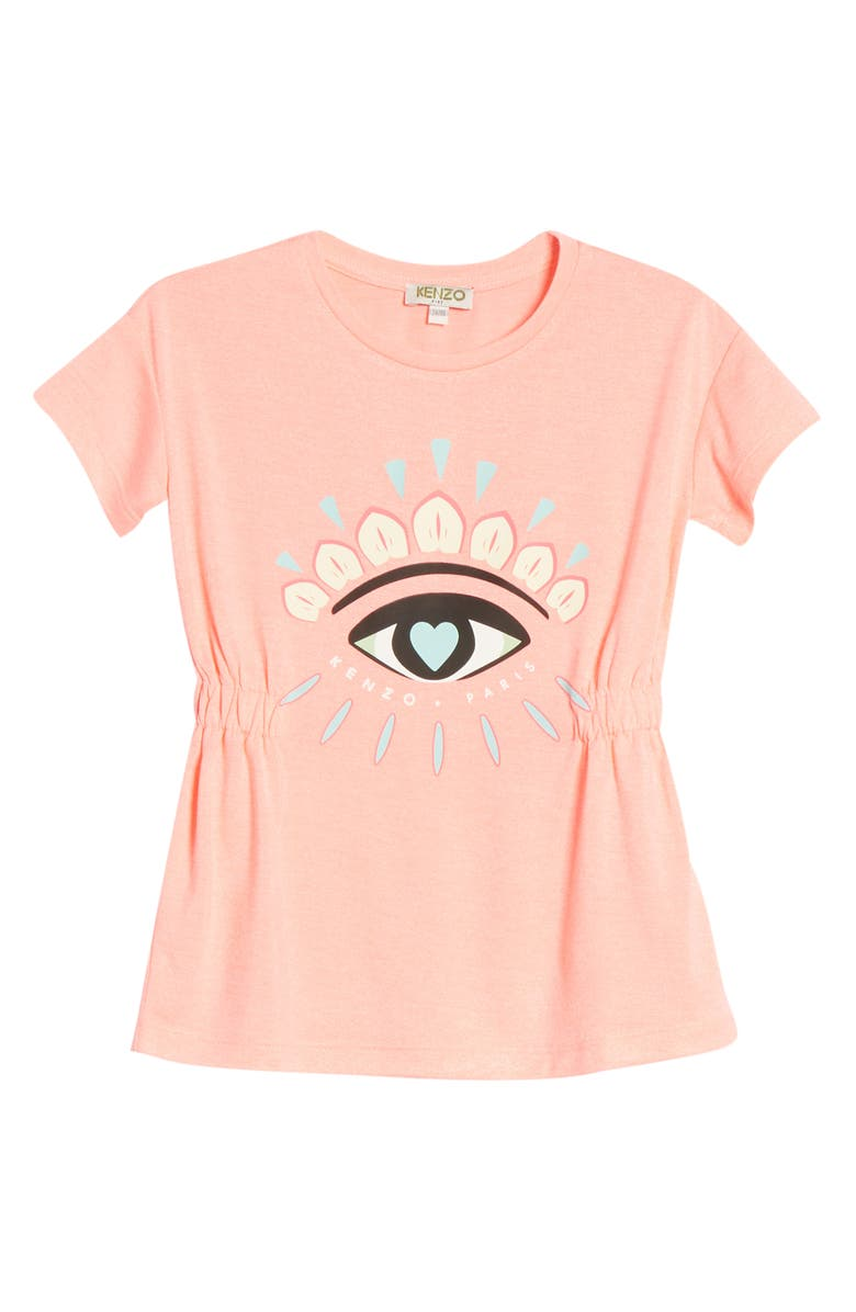 KENZO Eye Graphic Dress, Main, color, MID PINK