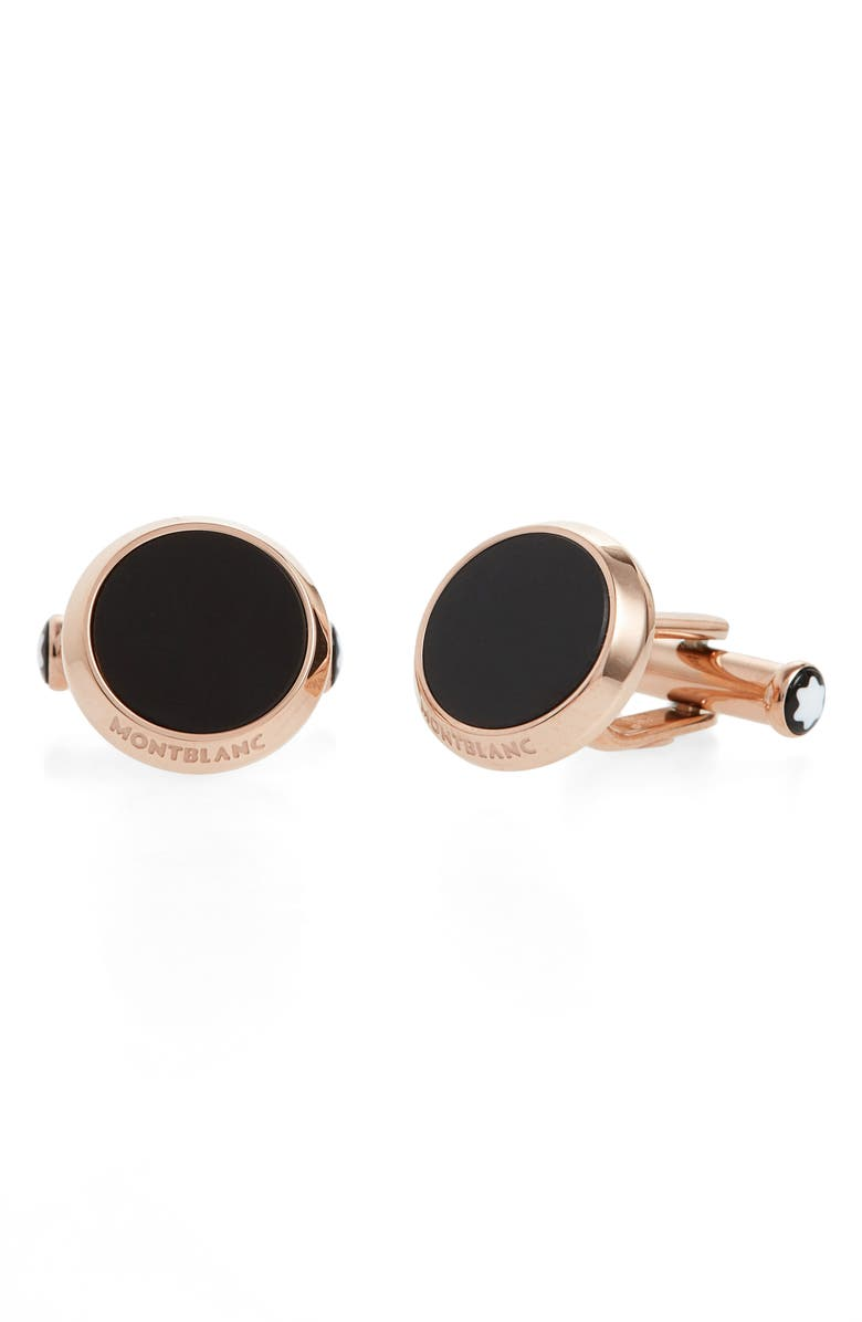 MONTBLANC Onyx Cuff Links, Main, color, 001