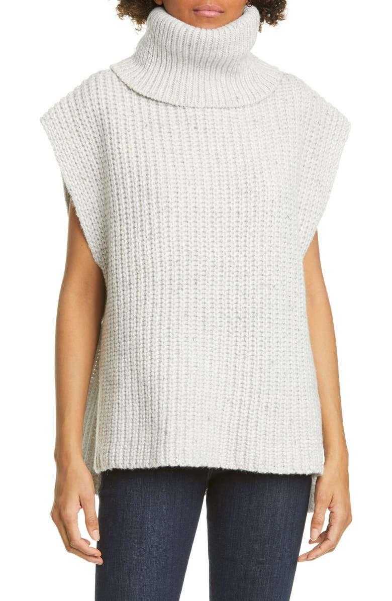ADAM LIPPES Side Tab Wool & Cashmere Sweater, Main, color, 051