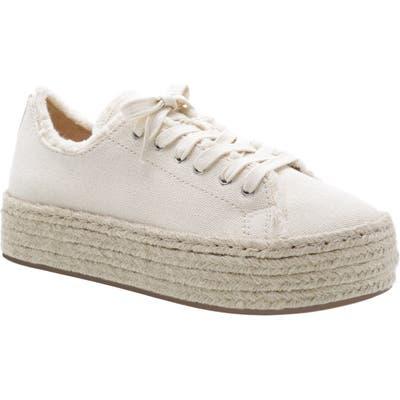Schutz Luana Espadrille Platform Sneaker- White