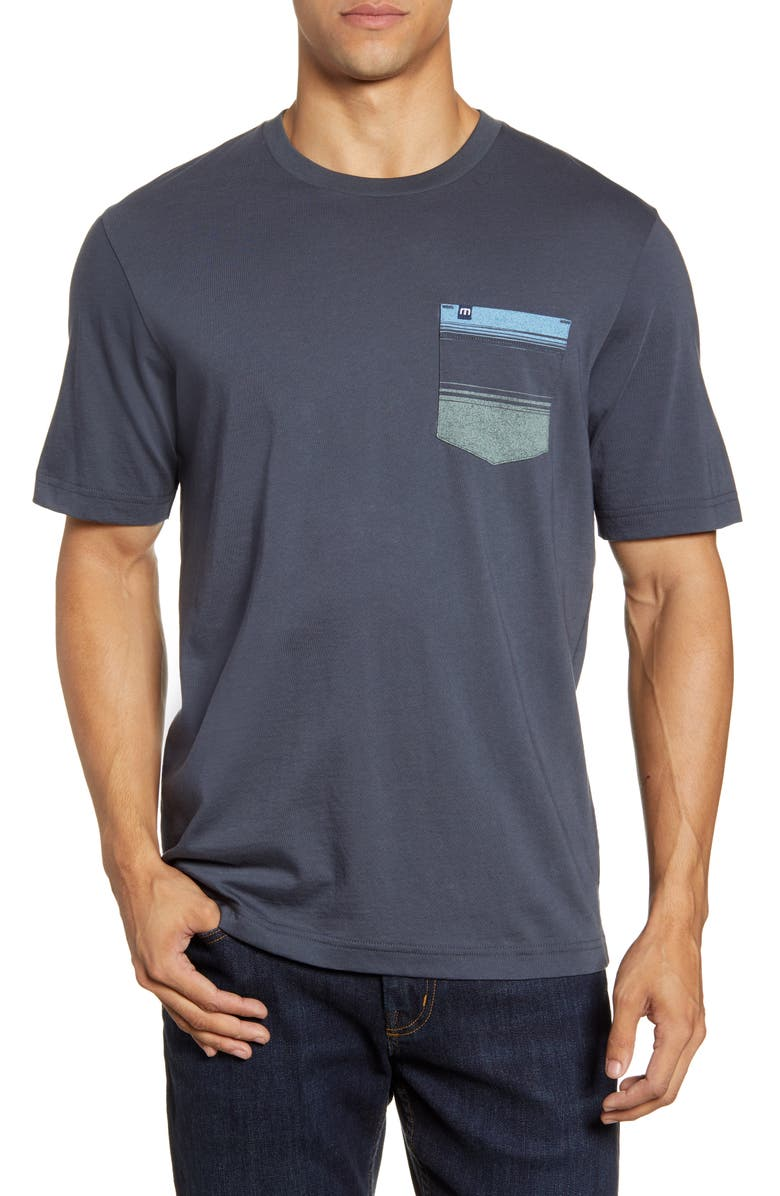 TRAVISMATHEW Heat Wave Pocket T-Shirt, Main, color, BLUE NIGHTS