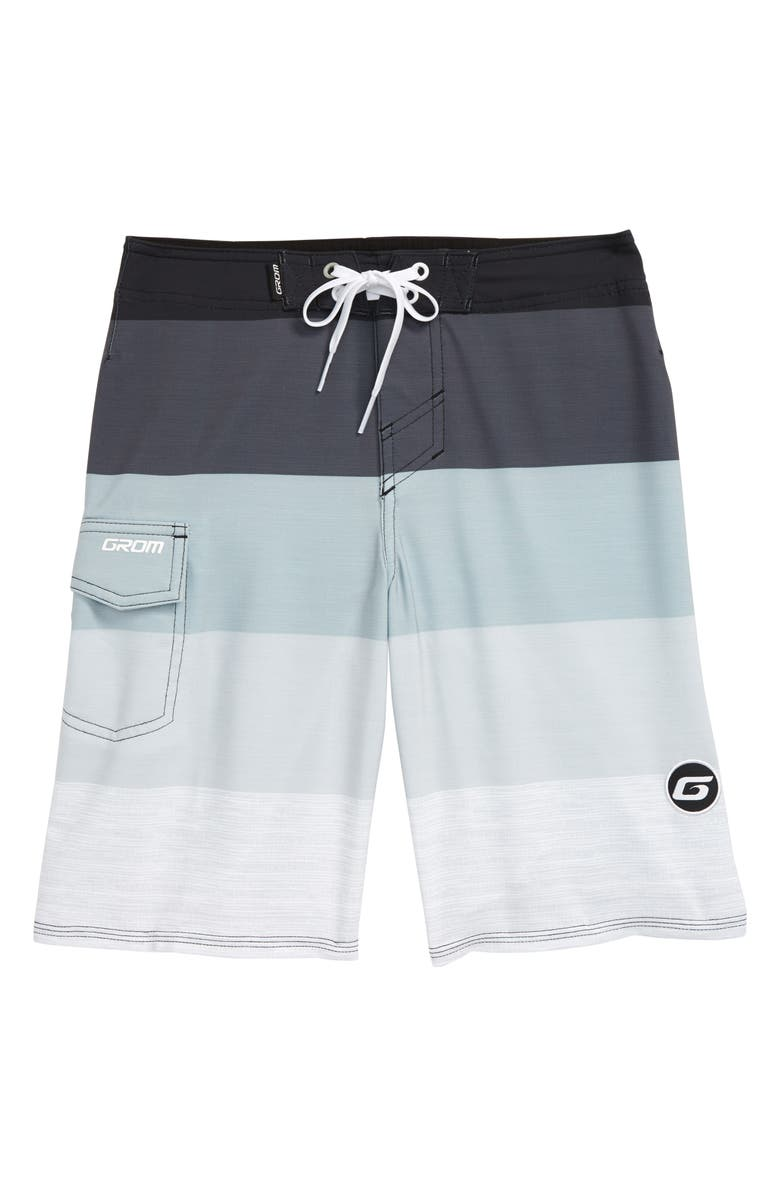 GROM Scrimmage Board Shorts, Main, color, CHARCOAL