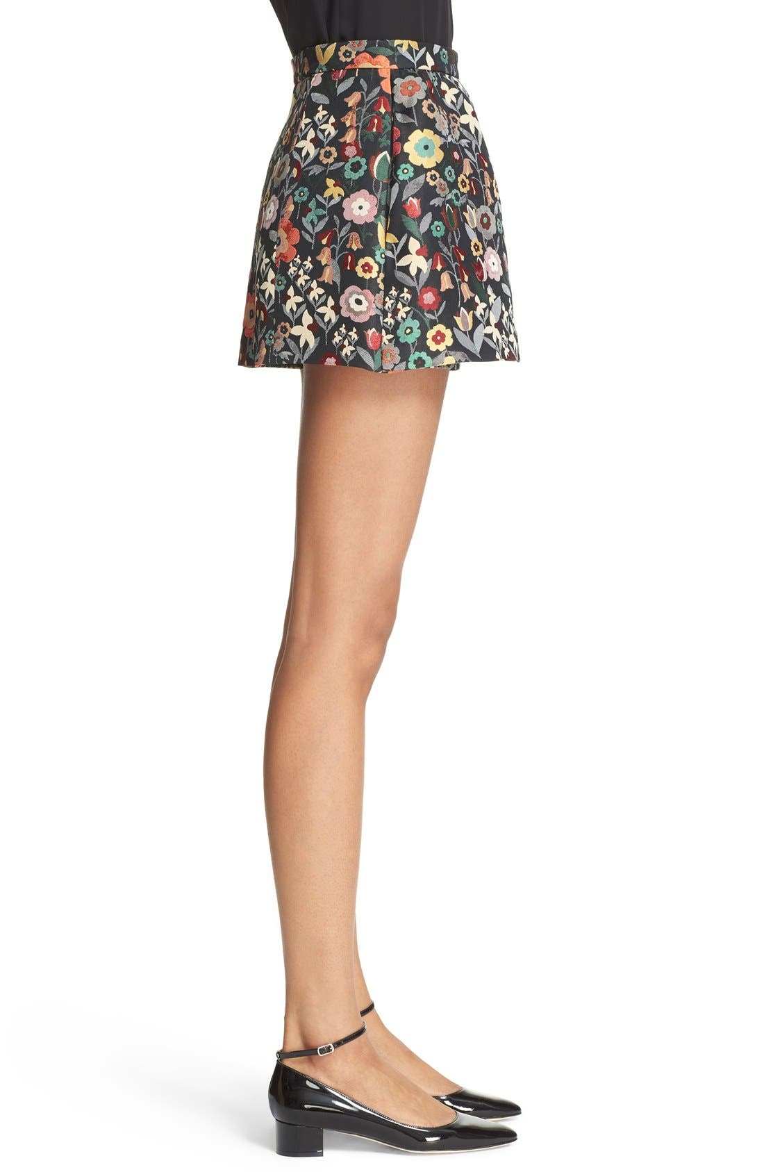 ,                             Floral Jacquard Skort,                             Alternate thumbnail 4, color,                             001