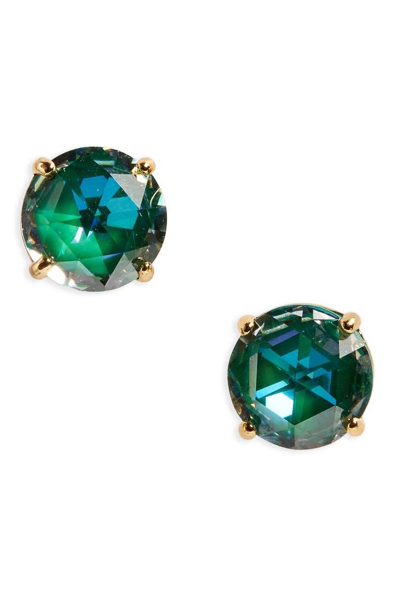 KATE SPADE NEW YORK bright idea stud earrings, Main, color, EMERALD