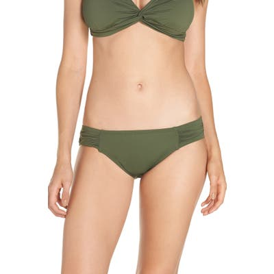 Tommy Bahama Side Shirred Hipster Bikini Bottoms, Green
