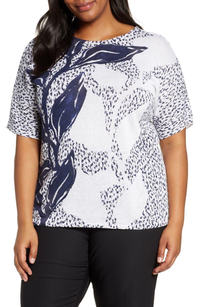 NIC+ZOE Flora Sweater, Main, color, 100