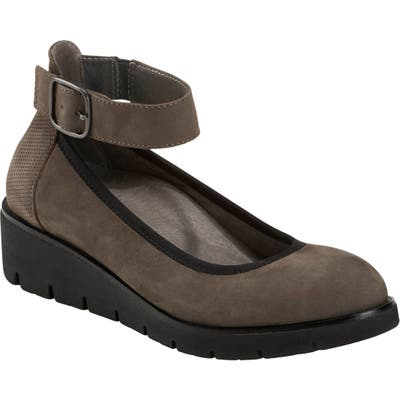 Earth Zurich Sion Ankle Strap Wedge, Grey