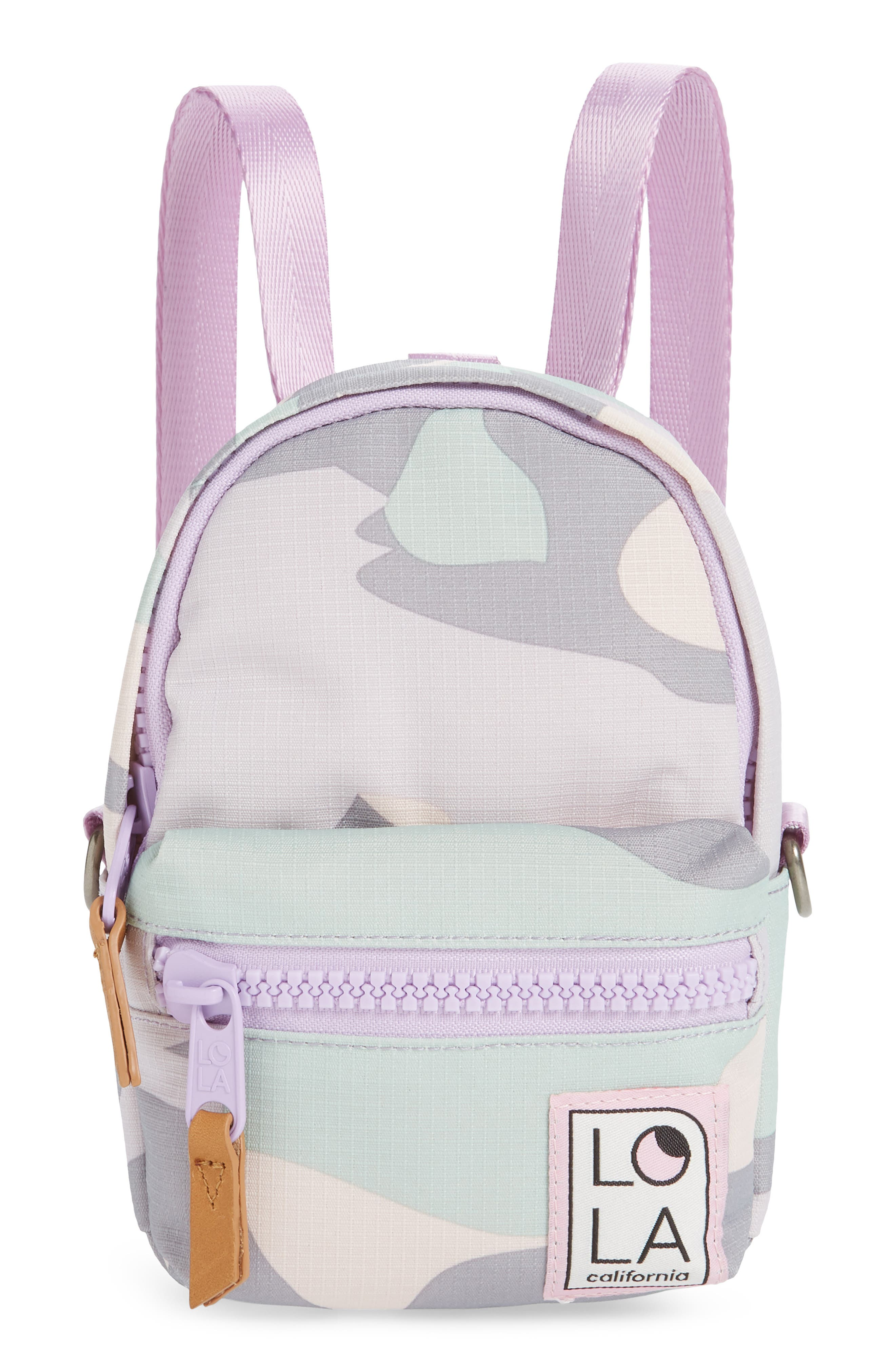 Lola Los Angeles Stargazer Mini Camo Convertible Backpack - Green