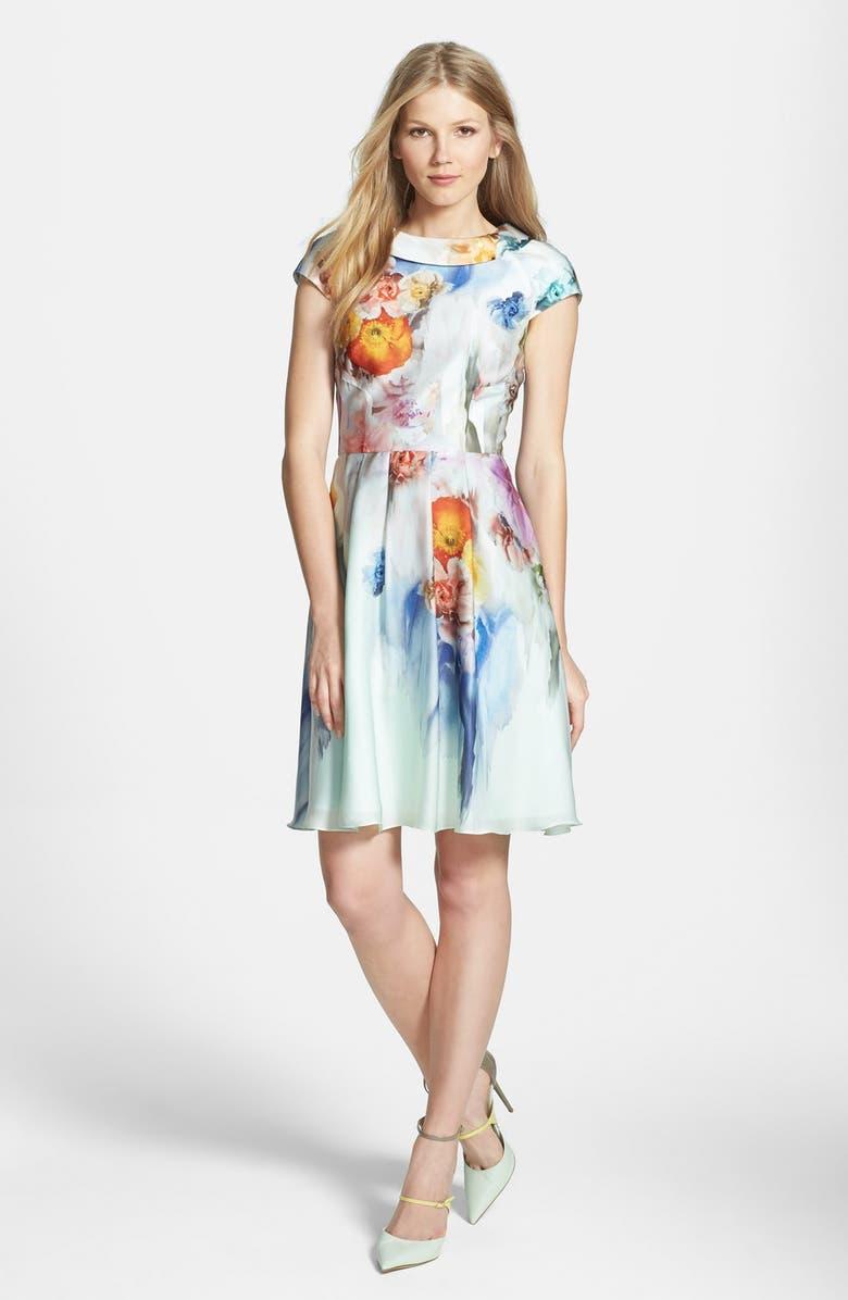 TED BAKER LONDON 'Sugar Sweet' Floral Print Dress, Main, color, 332