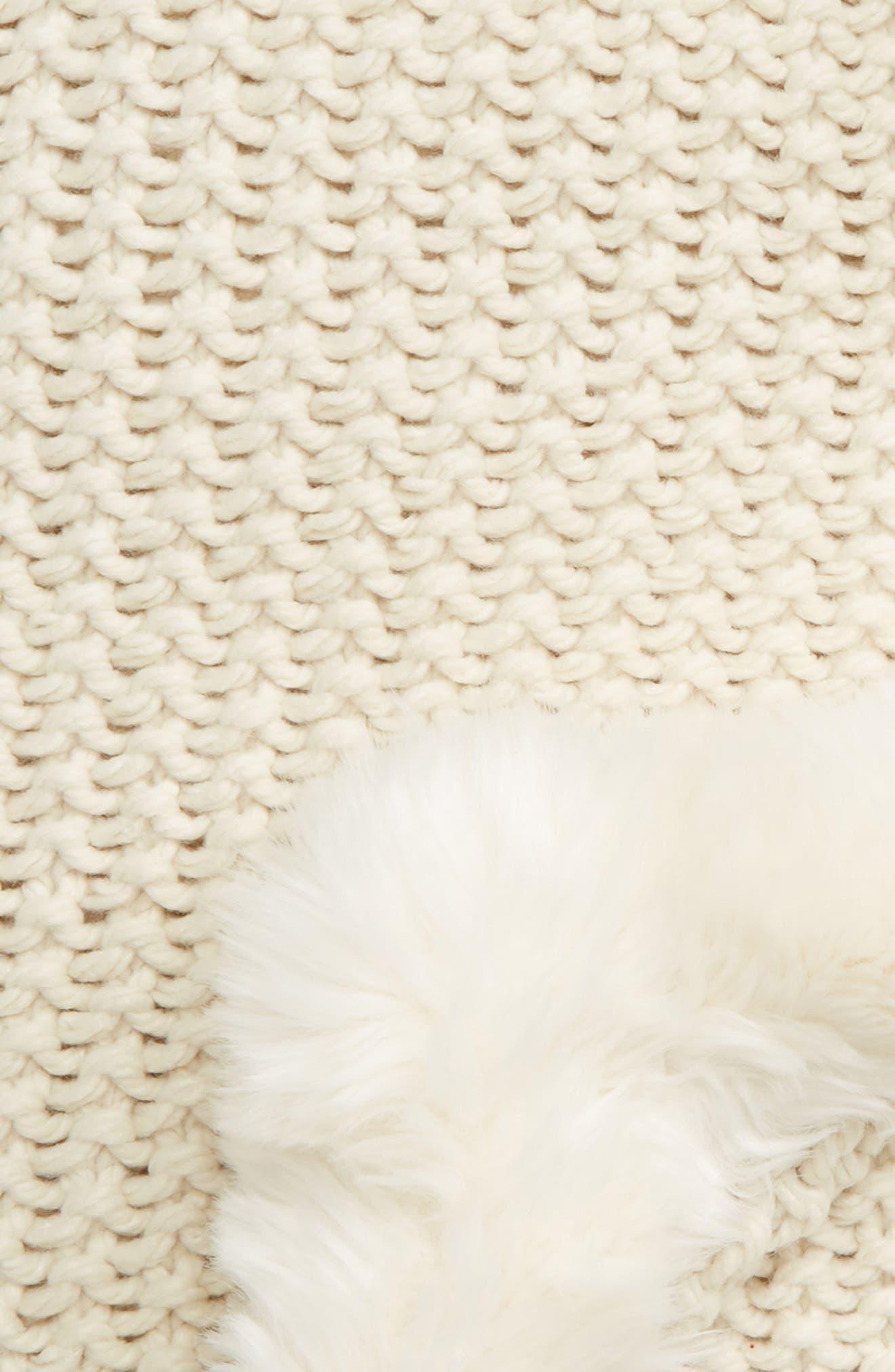 ,                             Faux Fur Border Knit Throw,                             Alternate thumbnail 6, color,                             900