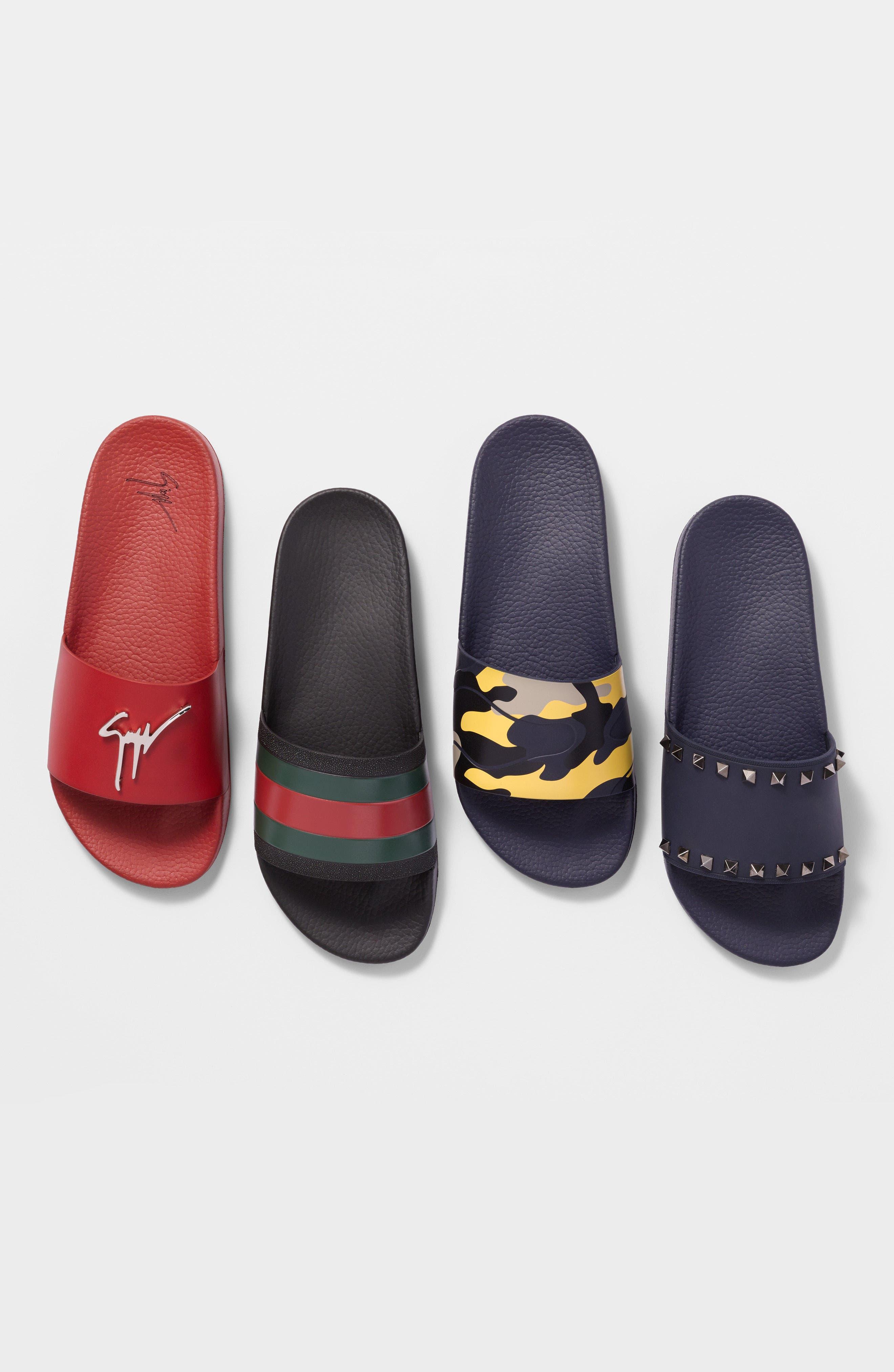 ,                             Pursuit Rubber Slide Sandal,                             Alternate thumbnail 6, color,                             BLACK