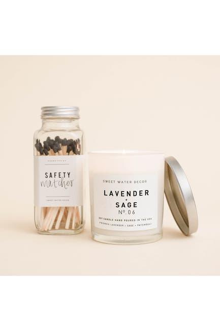 Image of SWEET WATER DECOR Lavender Sage 11 oz. Soy Jar Candle - Set of 2