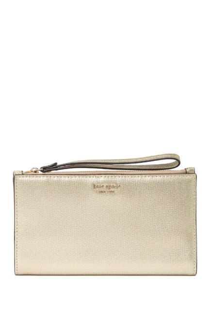 Image of kate spade new york sylvia large leather wristlet