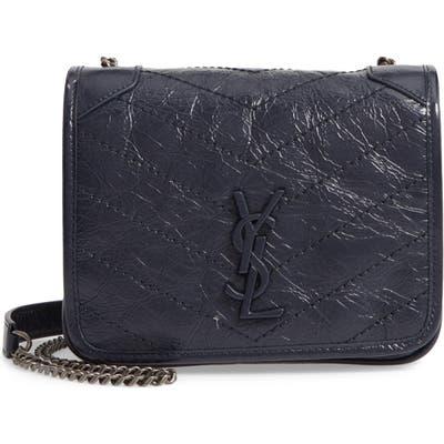 Saint Laurent Niki Leather Crossbody Bag - Blue