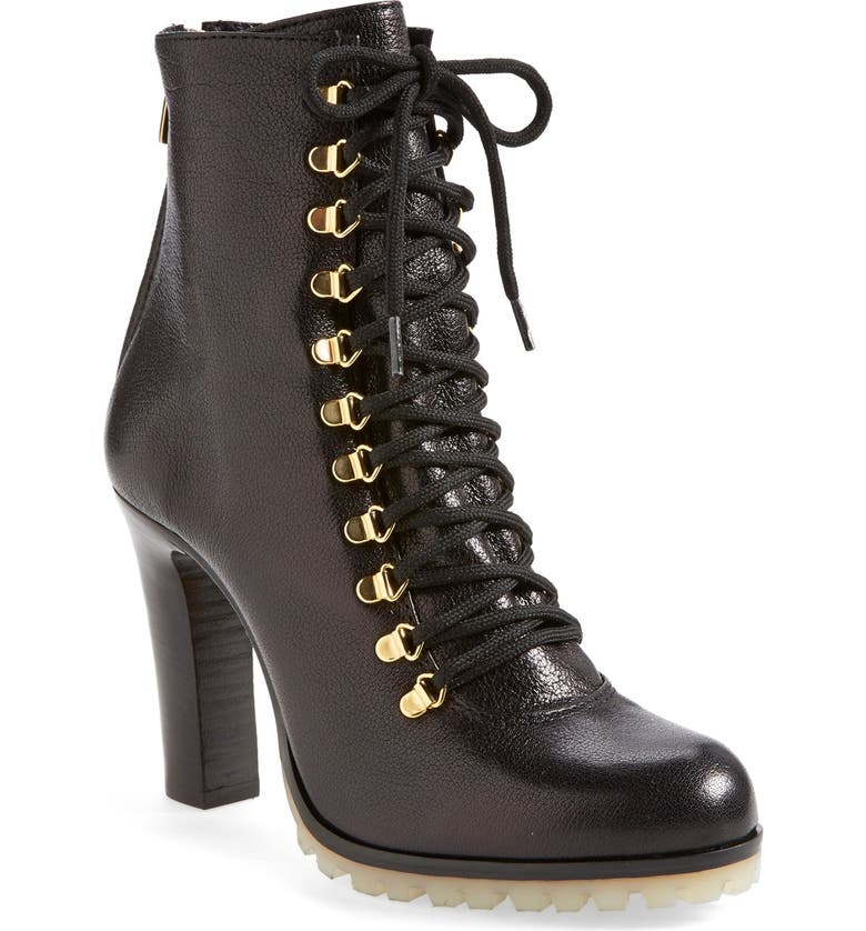 MOERO Lace-Up Ankle Boot, Main, color, 001
