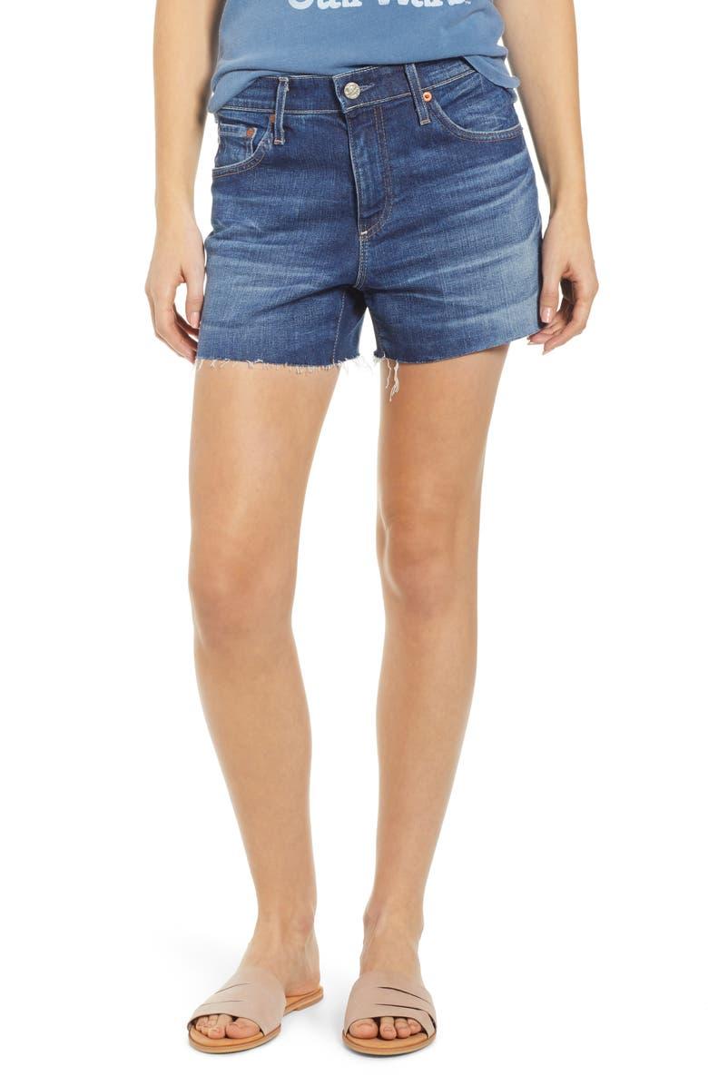 AG Hailey Boyfriend Cutoff Denim Shorts, Main, color, 11 YEAR FORTITUDE