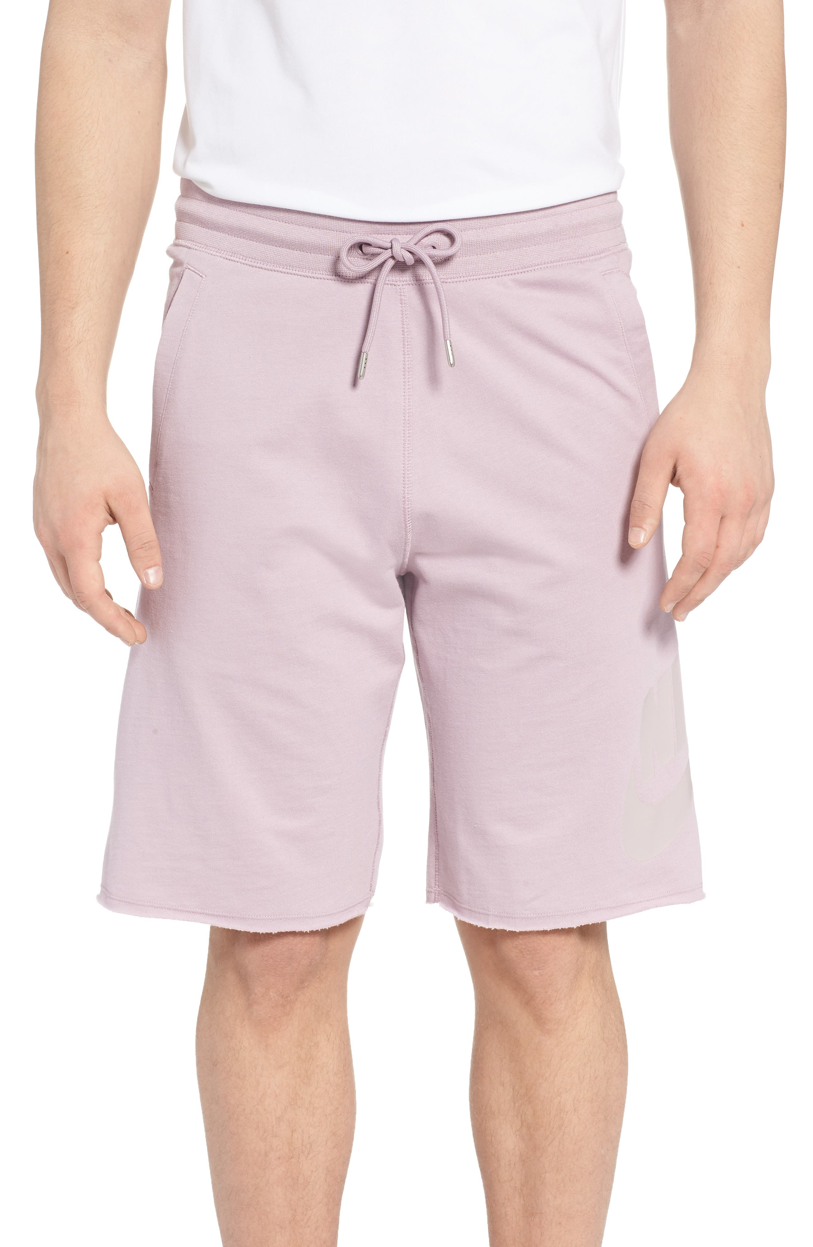 'NSW' Logo French Terry Shorts, Main, color, 694