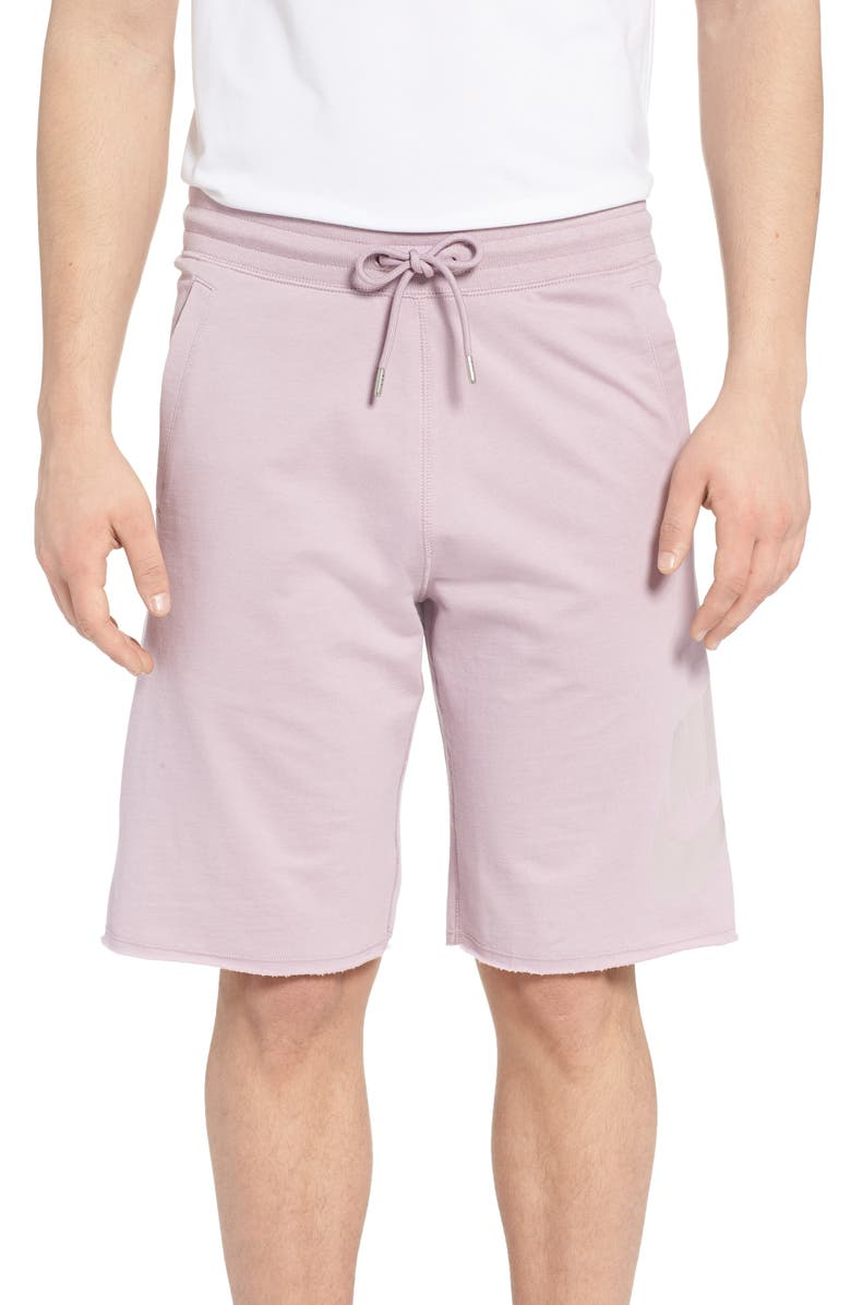 NIKE 'NSW' Logo French Terry Shorts, Main, color, 694