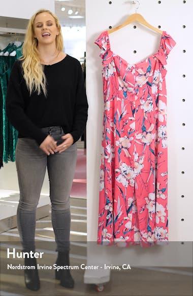 Floral Print Ruffle Flounce Dress, sales video thumbnail