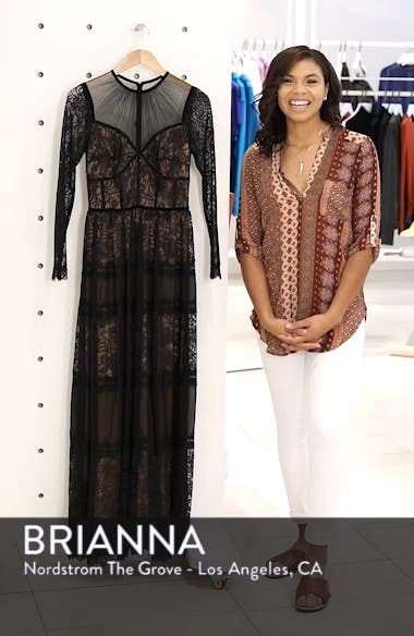 Long Sleeve Lace Gown, sales video thumbnail