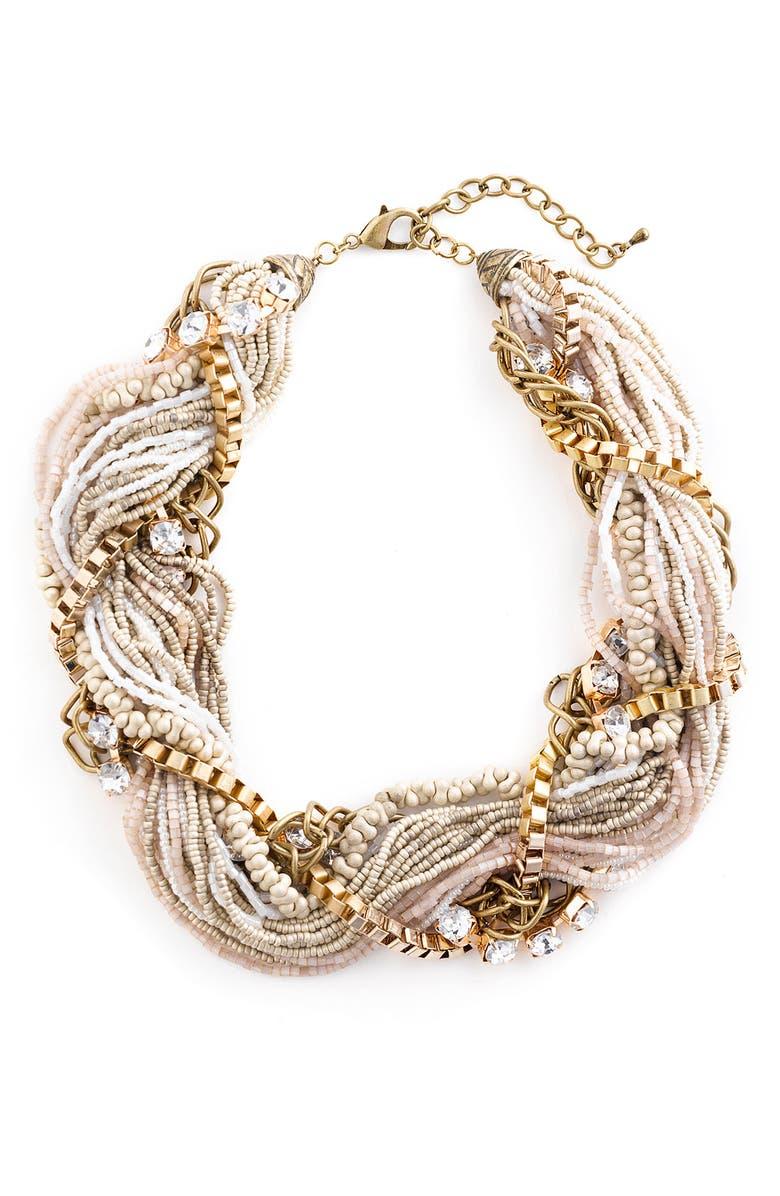 LESLIE DANZIS Mixed Media Torsade Necklace, Main, color, 100