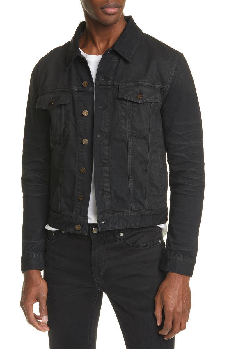 SAINT LAURENT Classic Denim Jacket, Main, color, BLACK
