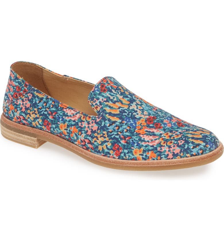 SPERRY Seaport Levy Liberty Flat, Main, color, NAVY FABRIC