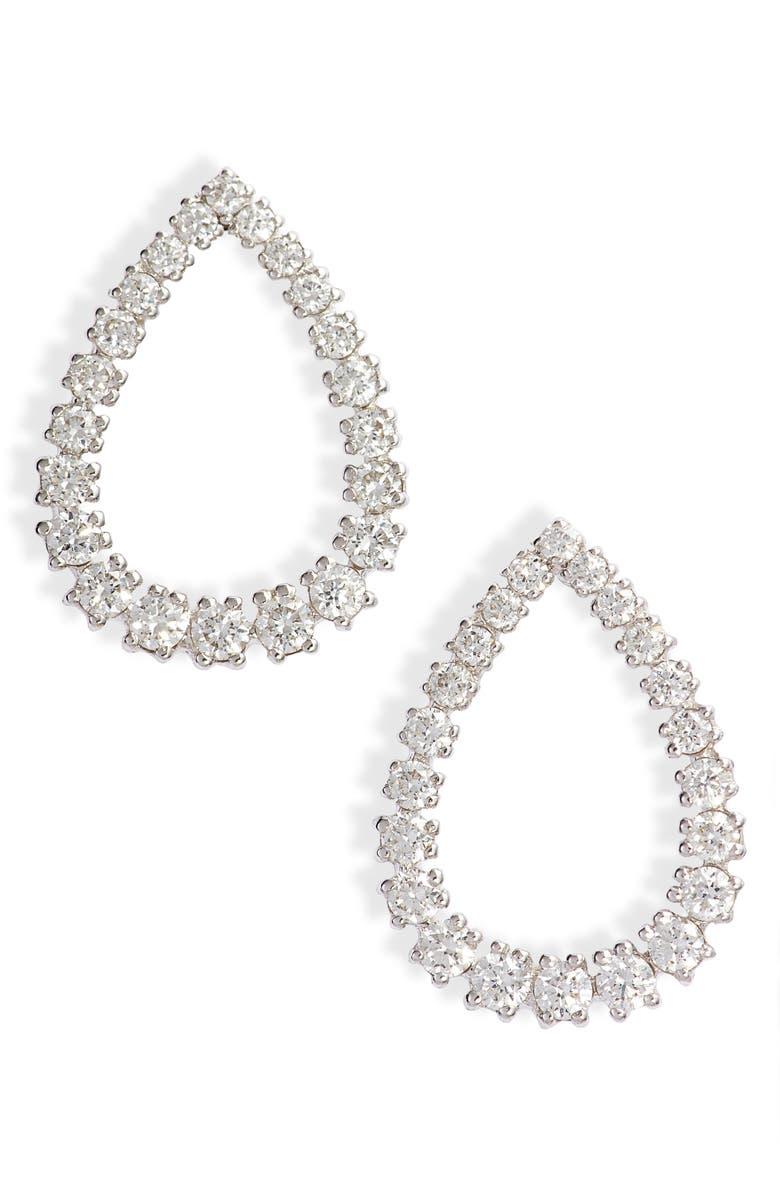 BONY LEVY Liora Graduated Diamond Pear Stud Earrings, Main, color, DIAMOND/ WHITE GOLD