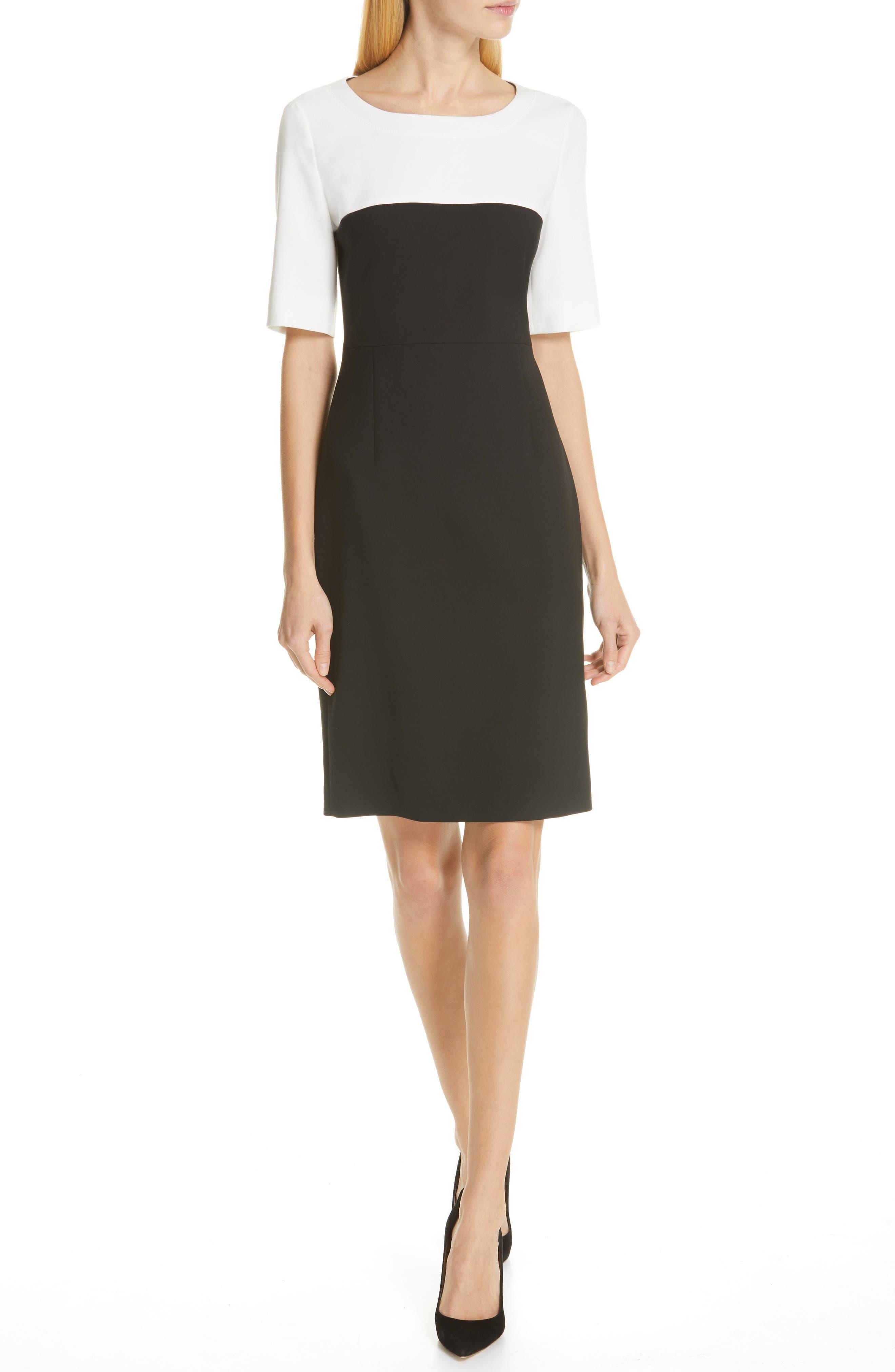 Boss Daina Colorblock Sheath Dress, Black
