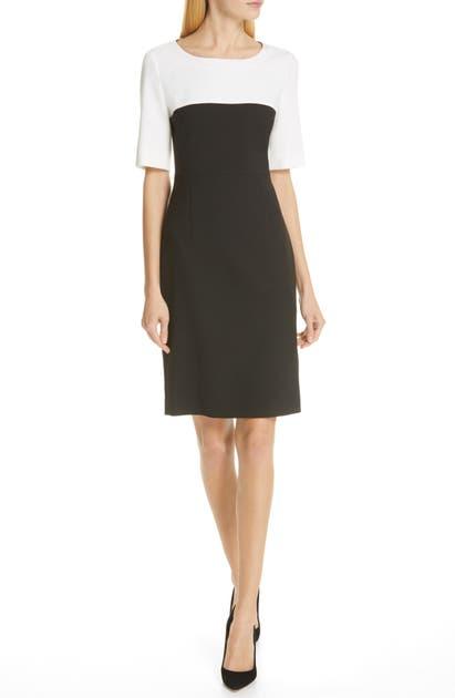 Boss Dresses DAINA COLORBLOCK SHEATH DRESS