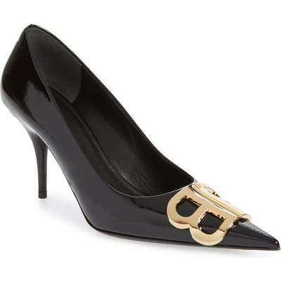 Balenciaga Bb Pointy Toe Pump - Black