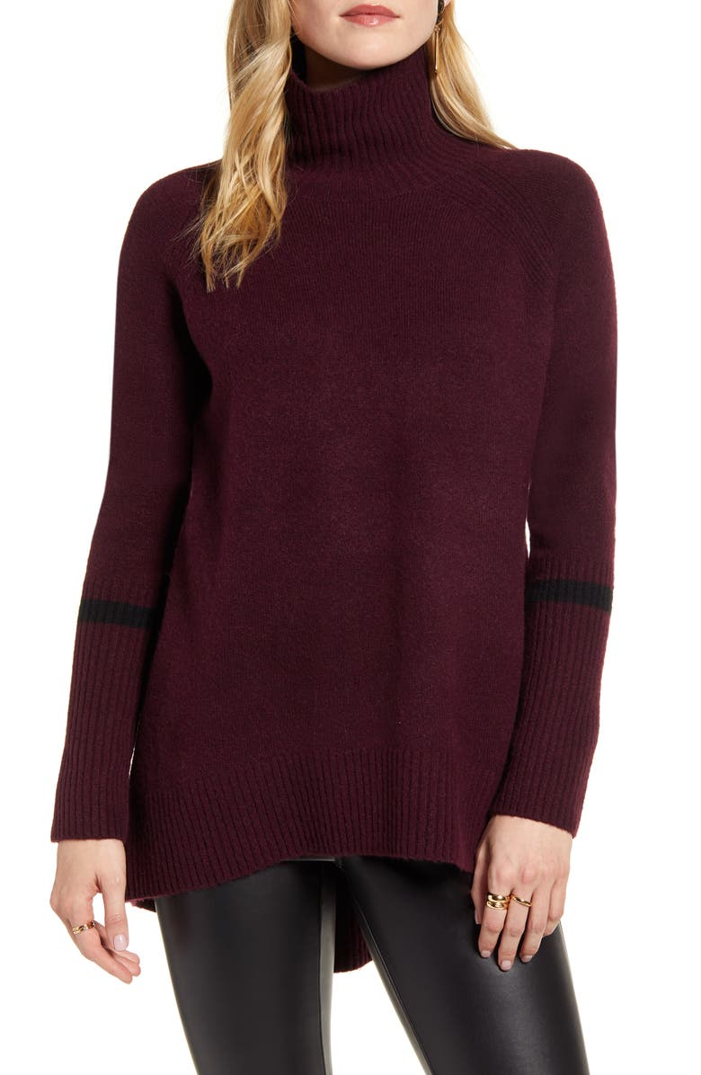 HALOGEN<SUP>®</SUP> High Low Oversize Wool Blend Sweater, Main, color, 003