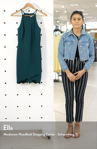 Scallop Hem Halter Dress, sales video thumbnail