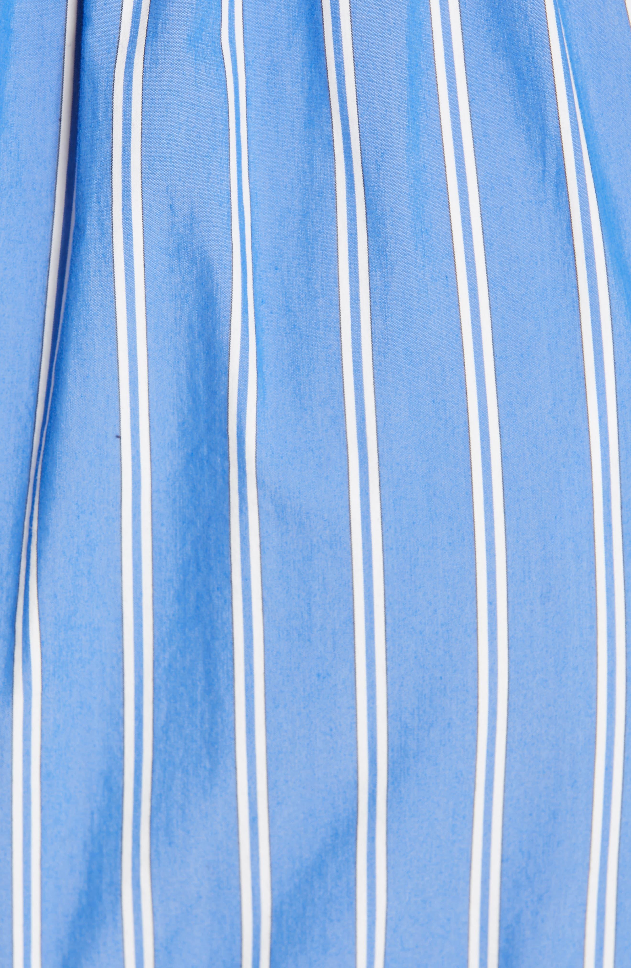 ,                             Vivian Stripe Halter Midi Dress,                             Alternate thumbnail 5, color,                             BLUE/ WHITE STRIPE MULTI